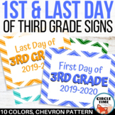 1st Day of 3rd Grade Sign, Printable First Day of School Sign, First Day 2019