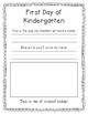 1st Day of Kinder - Name Writing