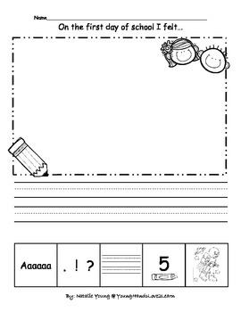 1st Day of School-5 Star Writing