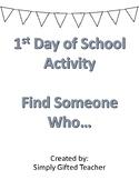 1st Day of School Activity - Community Building Activity -