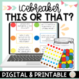 1st Day of School Activity Would you Rather Candy Icebreaker