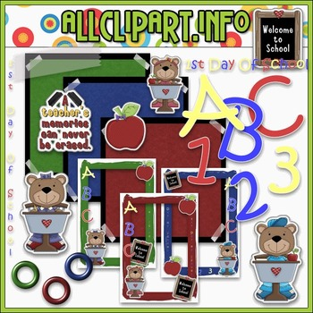 1st Day of School Commercial Use Clip Art Kit