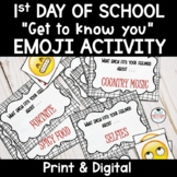 1st Day of School - Get to know you EMOJI Activity!