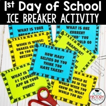 1st Day of School - Ice Breaker Activity