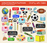 1st Day of School Photo Booth Prop Printable