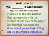 1st Day of School Powerpoint - guidelines, teacher info, etc.