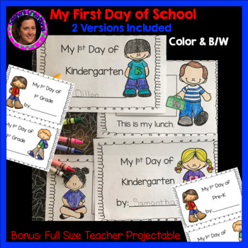 First Day of School ( PreK, VPK, Kindergarten, 1st Grade)