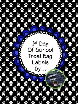 1st Day of School Puppy Treat Tags