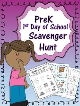 1st Day of School ~Scavenger Hunt~ Back to School