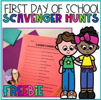 1st Day of School Classroom Scavenger Hunt FREEBIE