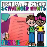 1st Day of School Classroom Scavenger Hunt FREEBIE