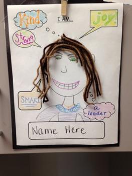 1st Day of School/ Self-Esteem/ Adjective/ Art Activity