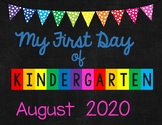 FREE 1st Day of School Signs