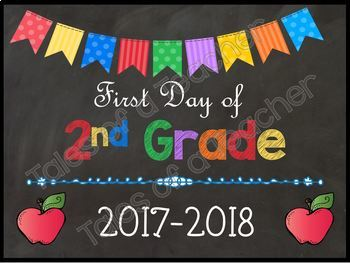 1st Day of School Signs {Brights}
