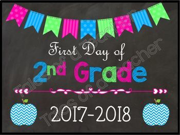 1st Day of School Signs {Neon}