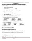 1st Day of School Social Studies Interest Survey