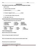 1st Day of School Social Studies Interest Survey