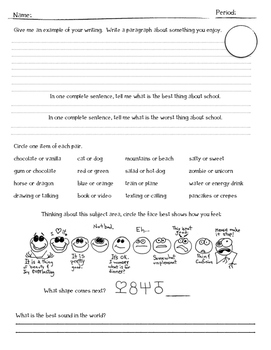 1st Day of School Survey
