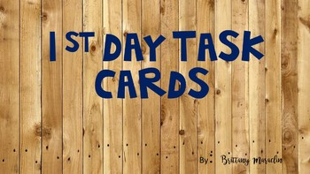 1st Day of School Task Cards