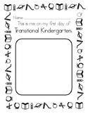 1st Day of School Transitional Kindergarten TK worksheet