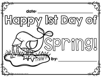 1st Day of Spring Coloring