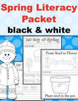 1st Day of Spring Tracing Activity Set