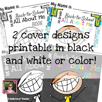 1st (First) Grade  Back to School (All About Me) Book {No Prep}
