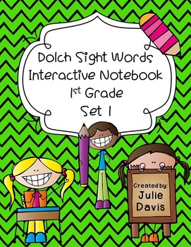 1st First Grade Dolch Sight Word Interactive Notebooks Set 1