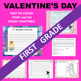 1st First Grade Valentine's Day Writing Activities