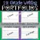 1st First Grade Writing Portfolio - NO PREP Back to School Writing Keepsake Book