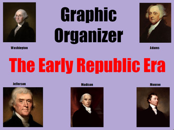 FAB FIVE PRESIDENTS! Graphic Organizer for Middle and High School History