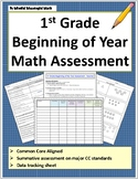 1st Grade Beginning of the Year Math Assessment