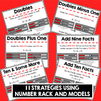 1st GRADE ADDITION STRATEGY POSTERS