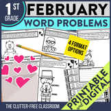 1st GRADE FEBRUARY WORD PROBLEMS