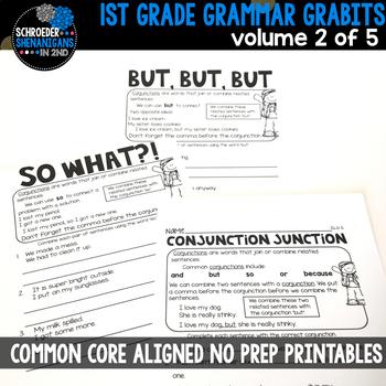 1st GRADE GRAMMAR GRABITS - VOLUME 2