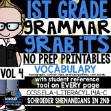 1st GRADE GRAMMAR GRABITS - VOLUME 4 Vocabulary