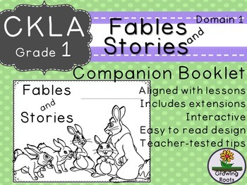 1st GRADE LEVEL LICENSE: CKLA 1st Fables and Stories Companion Domain 1
