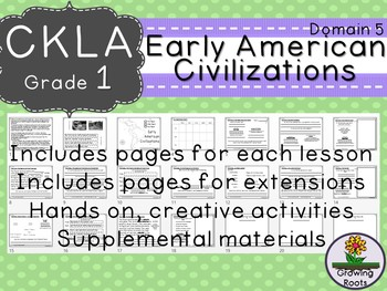 1st GRADE LEVEL LICENSE:CKLA Early American Civilizations D5