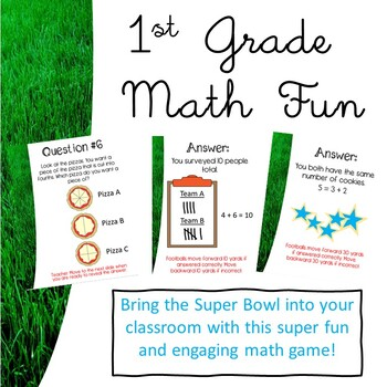 1st GRADE MATH CCSS SUPERBOWL GAME~ PROMETHEAN/CLASSFLOW ~ TEST PREP