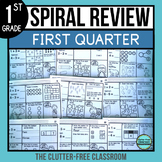 1st GRADE MATH SPIRAL REVIEW HOMEWORK | MORNING WORK | FIR
