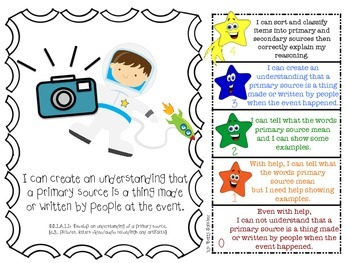FIRST GRADE SOCIAL STUDIES GOALS WITH GRAPHICS and 2 SETS of RUBRICS