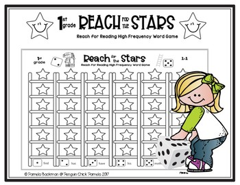 1st Gr Reach For Reading  REACH FOR THE STARS HFW Sight Word Game