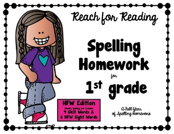 1st Gr. SPELLING HOMEWORK Sight Word Edition Natl. Geo. REACH FOR READING