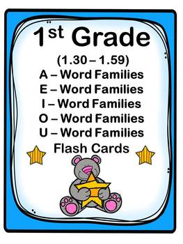 1st Grade 1.30-1.59 Word Families Cards (Correlated to American Reading Co IRLA)