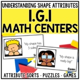 1st Grade 2D Shape Attributes Math Centers for 1.G.1