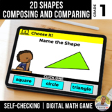 1st Grade 2D Shapes Digital Math Games | Distance Learning