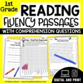 Reading Fluency Passages and Comprehension Questions -  1st Grade