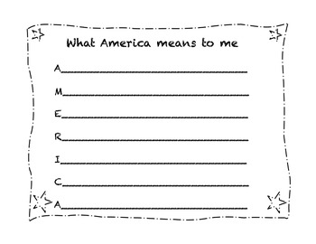 1st Grade 4th of July Activities