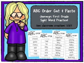 1st Grade ABC Order Practice!  (Journeys High Frequency Wo
