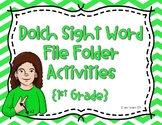 1st Grade ASL Dolch Sight Word Write and Wipe File Folder Activities